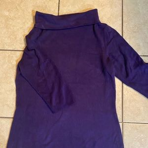 Sweater 1/4 length sleeve turtle neck